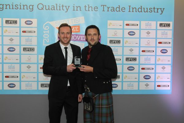 Michael Anderson and Richard Fraser at Scottish Home Improvements Awards in Glasgow 2016