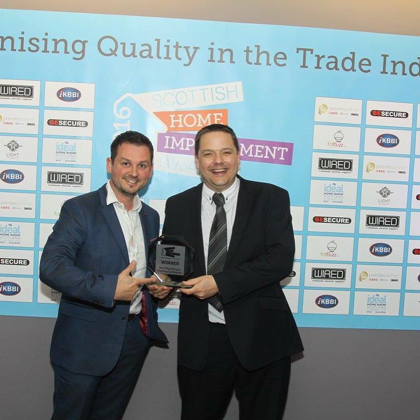 Mark Haddow at Scottish Home Improvements Awards 2016