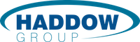 Haddow Group brand logo with dark blue and green text